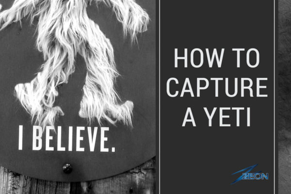 how to capture a yeti, beer sign, brewery sign, brewery signage, yeti, great divide, zeon, point of purchase
