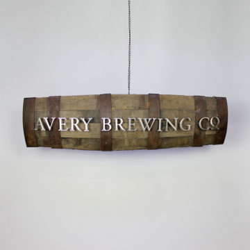 Avery Brewing Co. Dimensional Barrel Sign