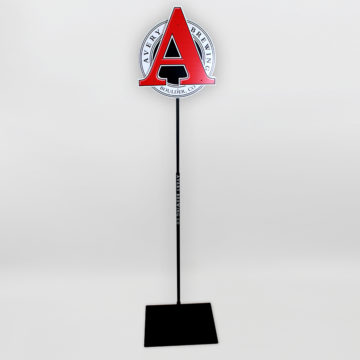Avery Brewery Pole Display – Angled View