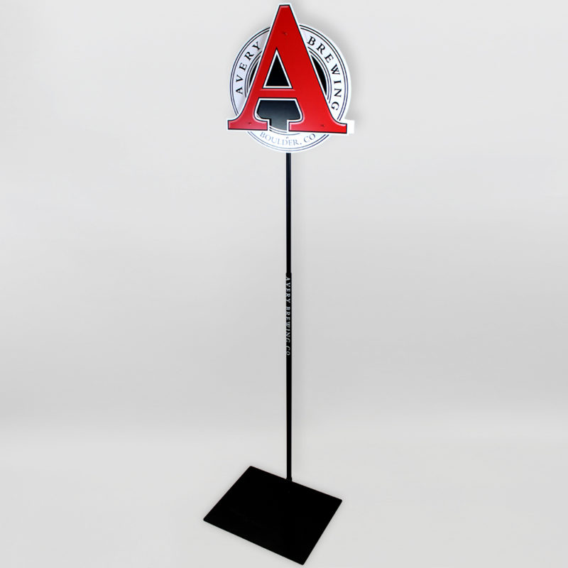 Avery Brewery Pole Display - Angled View