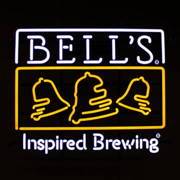 Bells Brewing Illuminated LEON Sign – Angled View