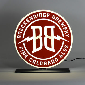 Breckenridge Brewery LED Countertop Sign – Angled View