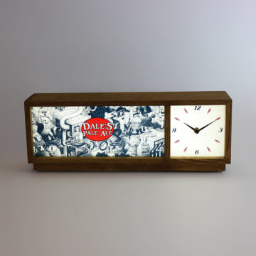 Dale's Pale Ale Illuminated Clock – Angled View