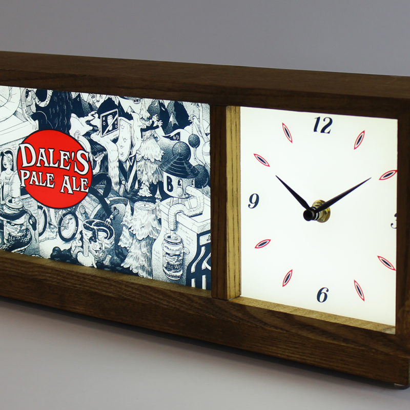 Zeon design and produced custom Dale's Pale Ale Illuminated Clock, Custom Sign Design, Zeon, Zeon Signs, Neon Signs, LED Signs, Custom Clock, Beer Industry, Brewery promotional products