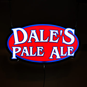 Dale's Pale Ale LED Light Panel Sign – Angled View