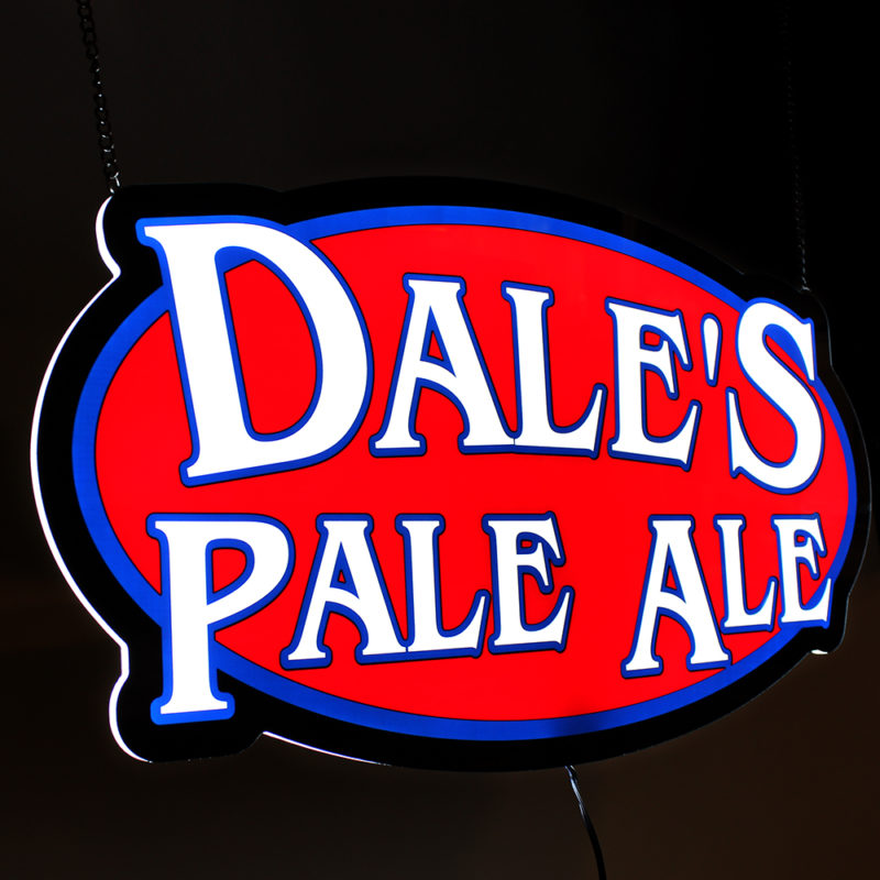 Dale's Pale Ale LED Light Panel Sign - Angled View