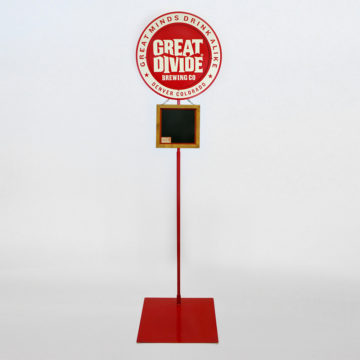 Great Divide Brewing Pole Display – Angled View