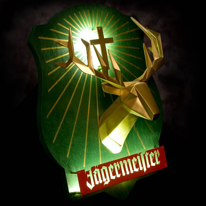Jagermeister LED Dimensional Sign - Angled View