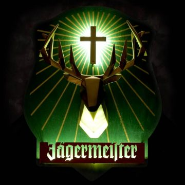 Jagermeister LED Dimensional Sign – Angled View