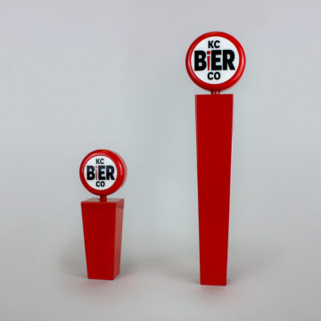 KC Bier Co. Tap Handle – Angled View