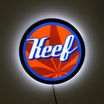 Keef LED Light Panel Sign – Angled View