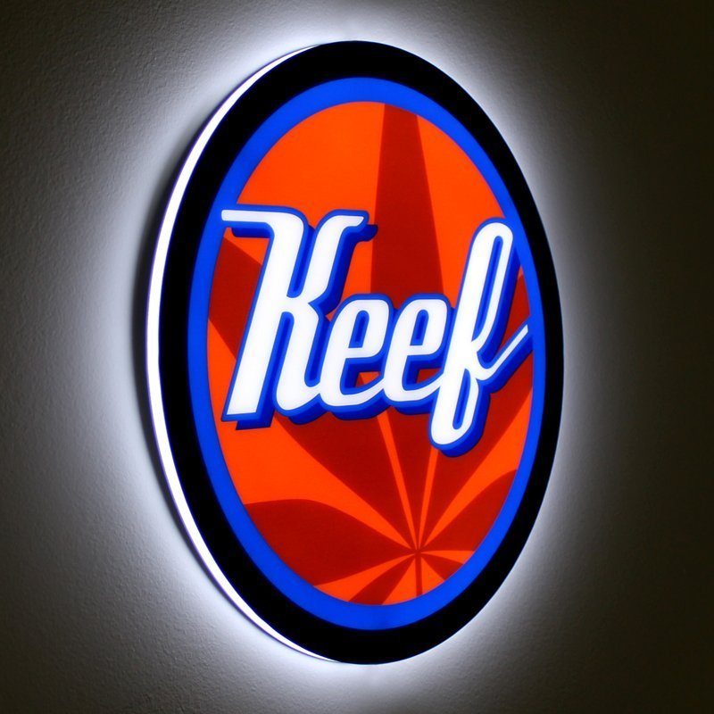 Keef LED Light Panel Sign - Angled View