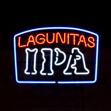 Lagunitas IPA Neon Sign – Angled View