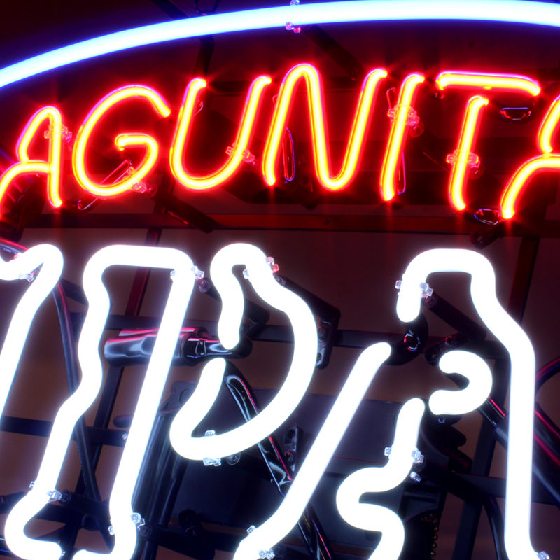 Lagunitas IPA Neon Sign - Angled View