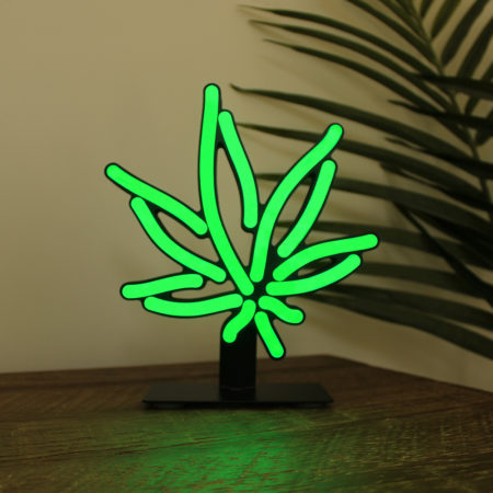 Cannabis Light, cannabis desk lamp, cannabis night light, marijuana desk light, dorm room decor, man cave decor, cannabis style, cannabis gift, cannabis decoration, green leaf light, neon light, LED light