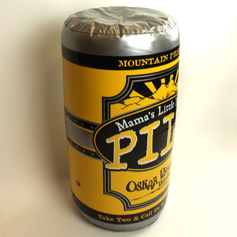 Oskar Blues Brewery Mamas Pils Inflatable Beer Can - Angled View