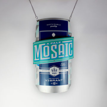 Mosaic Dimensional Can Sign – Angled View