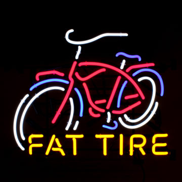 New Belgium Brewing Fat Tire Neon Sign – Angled View