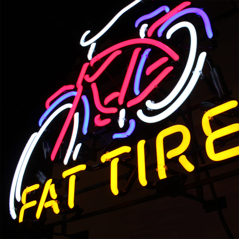 New Belgium Brewing Fat Tire Neon Sign - Angled View