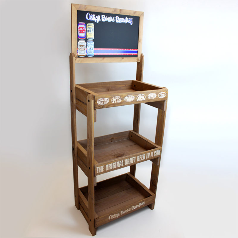 Oskar Blues Brewery Reclaimed Wood Floor Display - Angled View