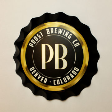 Prost Brewing Co. Bottle Cap Tacker – Angled View