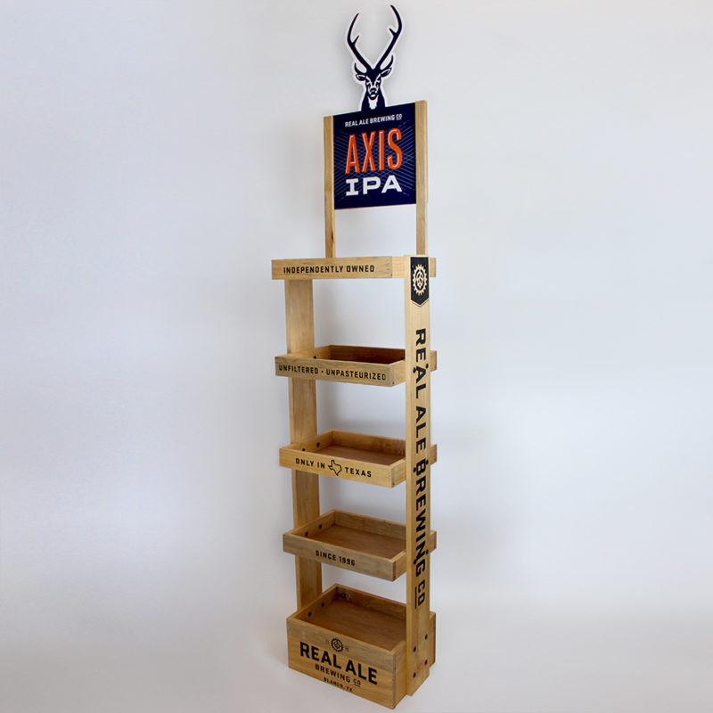 Real Ale Brewing Co. Axis IPA Floor Display - Angled View
