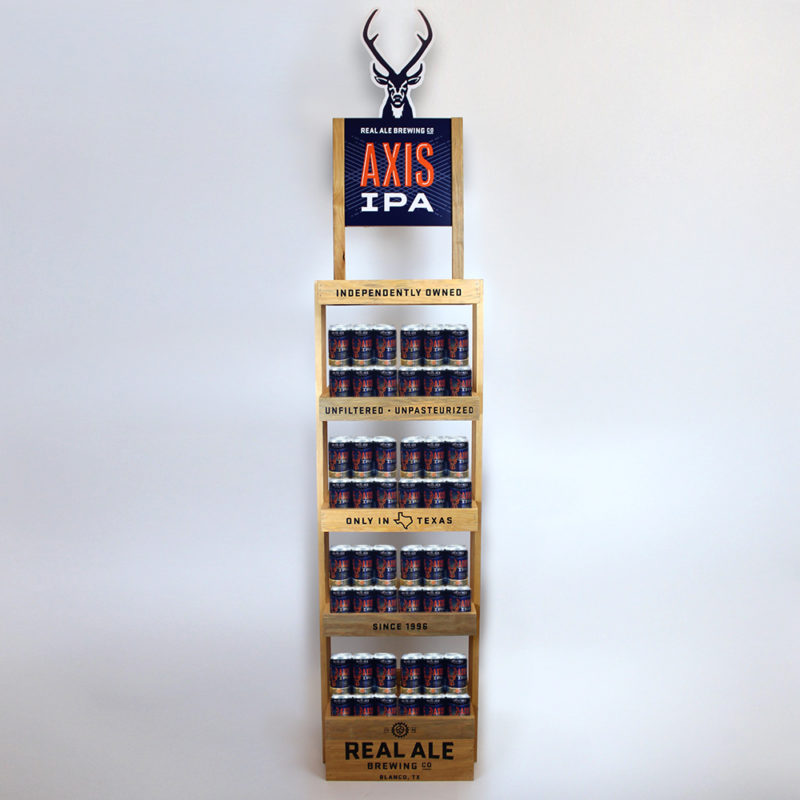 Real Ale Brewing Co. Axis IPA Floor Display