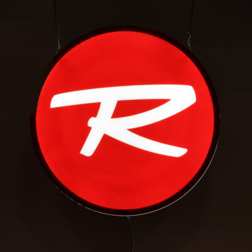 Rossignol LED Light Panel Sign – Angled View