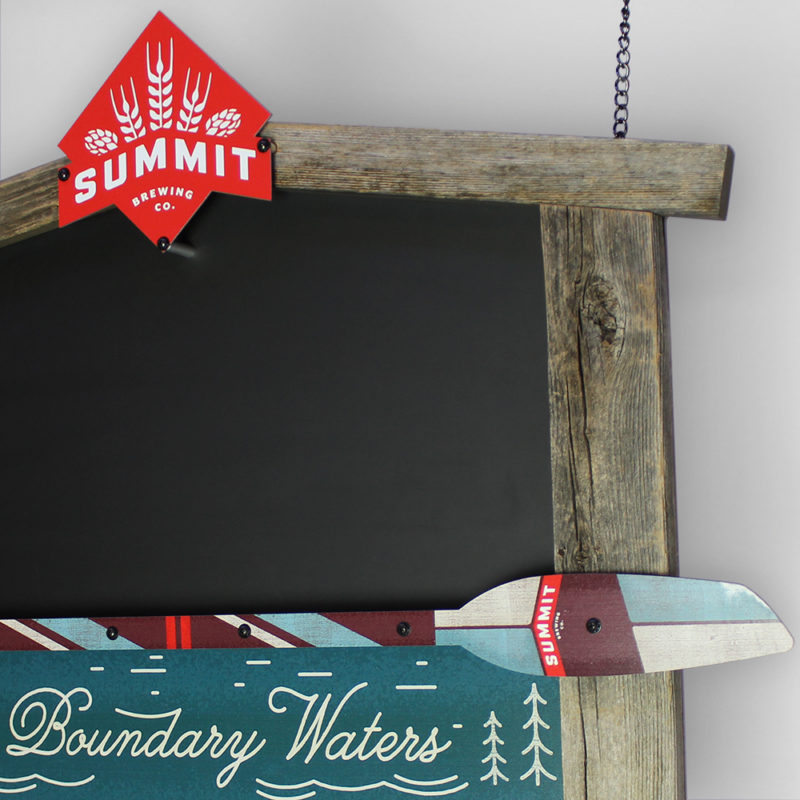 Summit Brewing Co. Chalkboard - Angled View