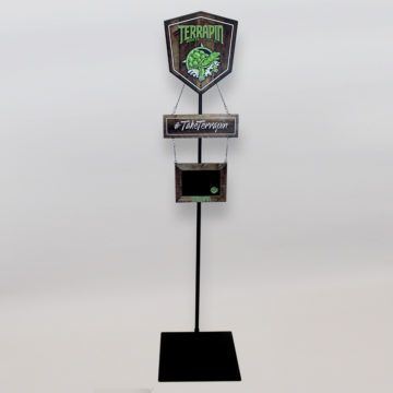 Terrapin Beer Co. Pole Display – Angled View