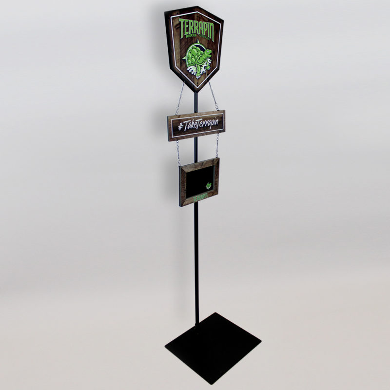 Terrapin Beer Co. Pole Display - Angled View