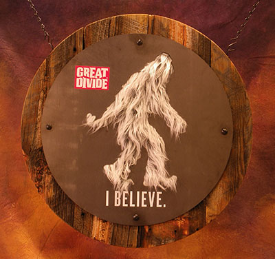 yeti sign, beer sign, brewery sign, brewery signage, yeti, great divide, zeon, point of purchase, beer signage, pos, zeon signs